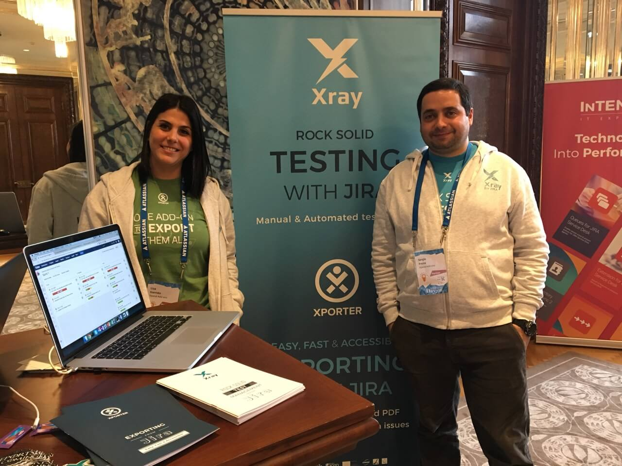 Xray & Xporter booth in Jira & Confluence Solutions Day 2018