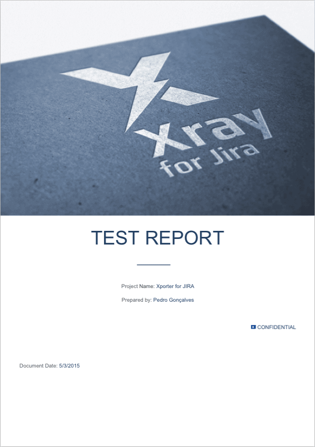 Xporter Template for Xray Test Report
